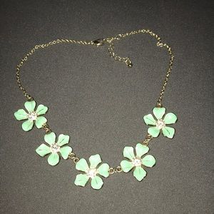 Turquoise flower statement necklace